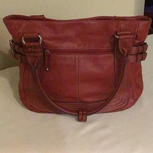 Tignanello Red Leather Handbag